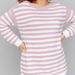 NEW Lane Bryant striped pullover boat neck sweater